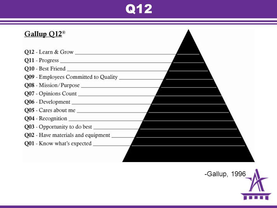 Q12 -Gallup, 1996