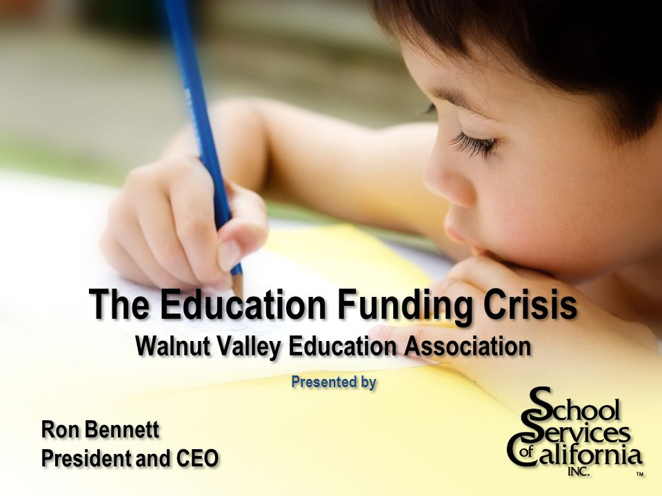 A State In Crisis The state's economic problems are significant and well publicized The state's commitment to public education is, however, far below other states California is near the bottom of the Quality Counts and National Education Association (NEA) rankings of per-student expenditures The latest recession has caused further dramatic cuts to an already fragile funding model for public education The cuts are deep, broad, and long lasting 1