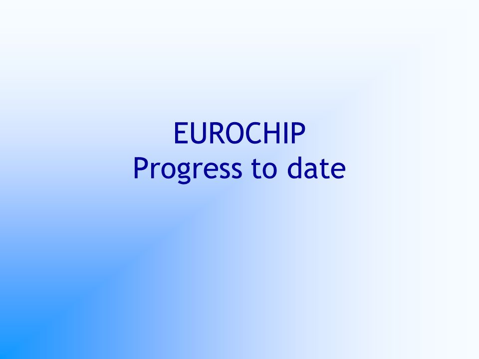 EUROCHIP Progress to date