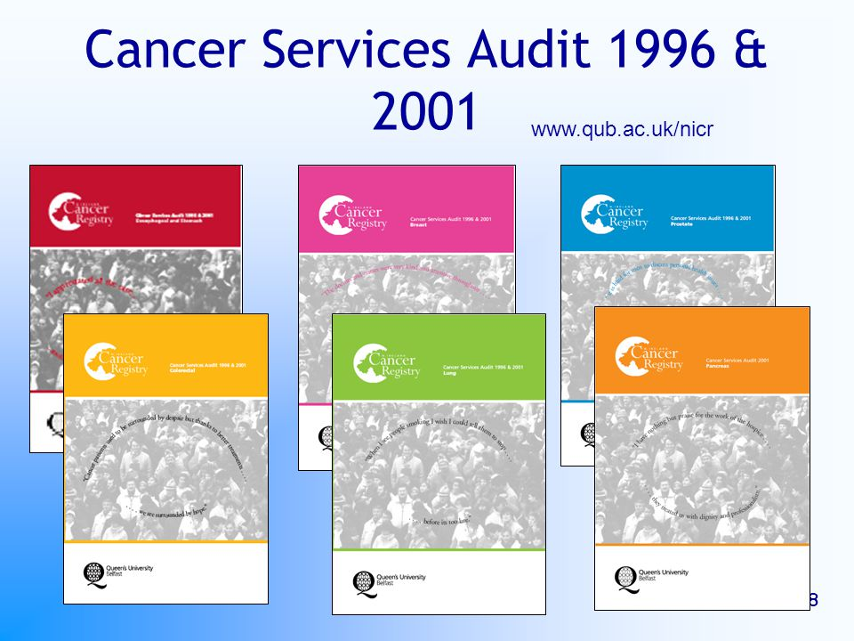 EUROCHIP 8 Cancer Services Audit 1996 & 2001 www.qub.ac.uk/nicr