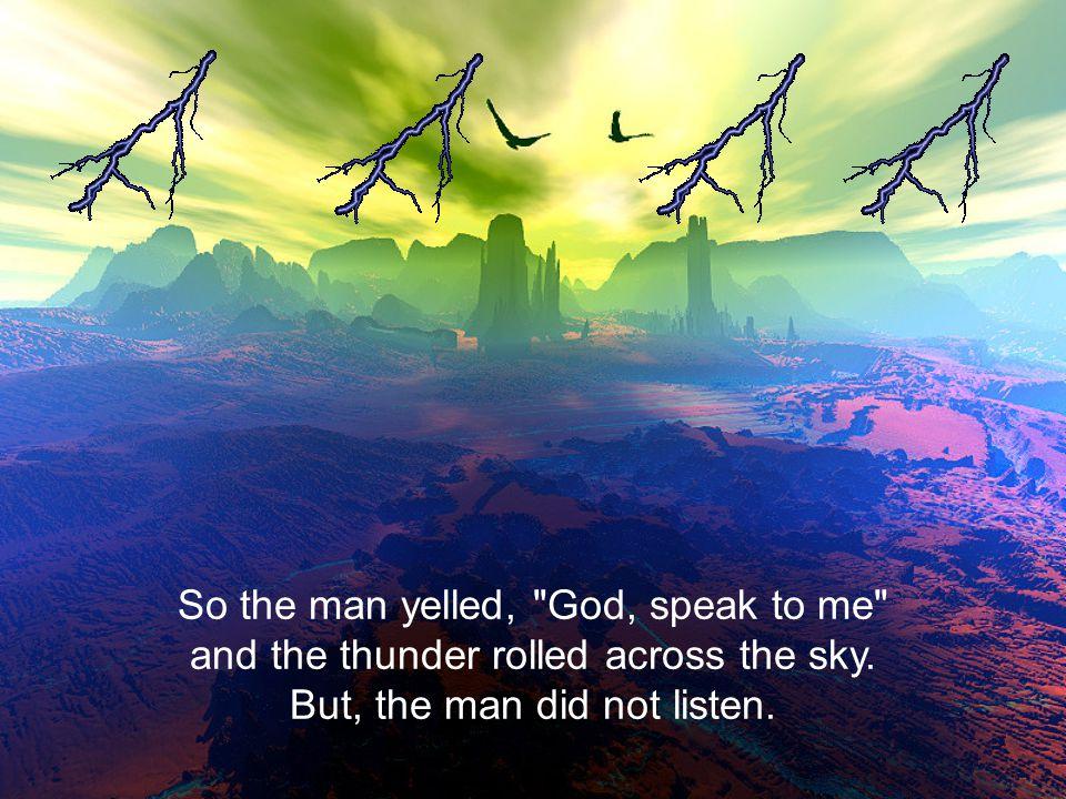 The man whispered,