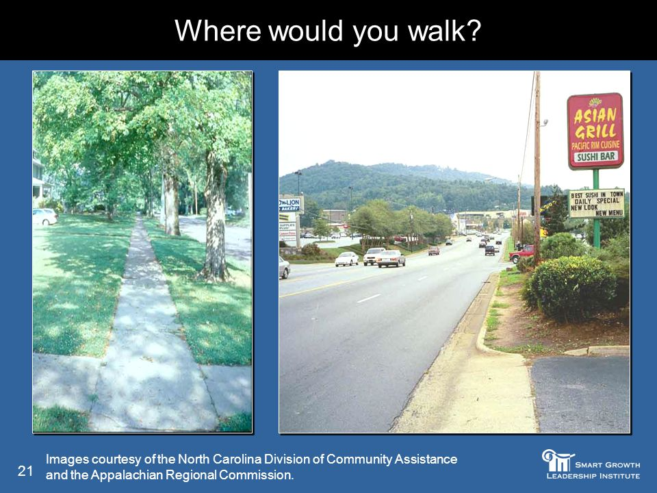 21 Where would you walk.