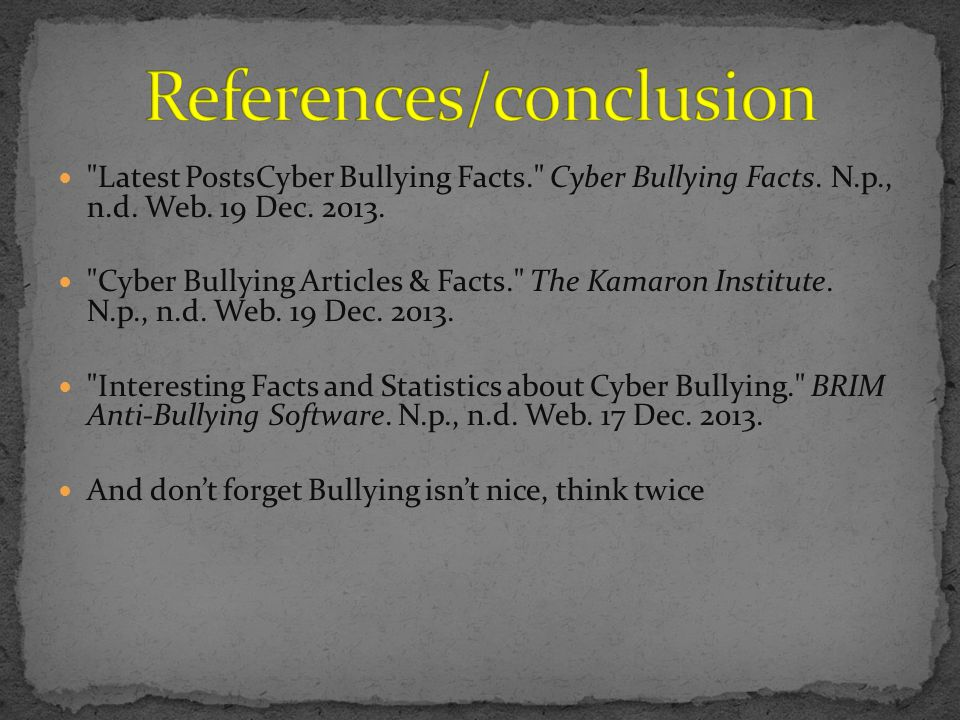 Latest PostsCyber Bullying Facts. Cyber Bullying Facts.