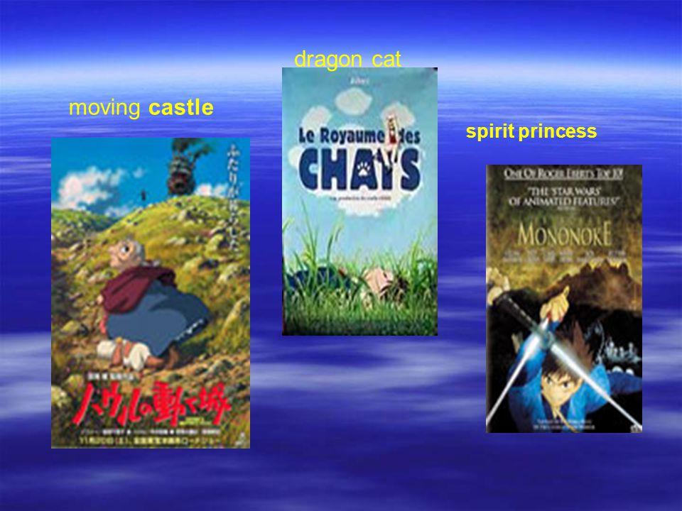 moving castle dragon cat spirit princess