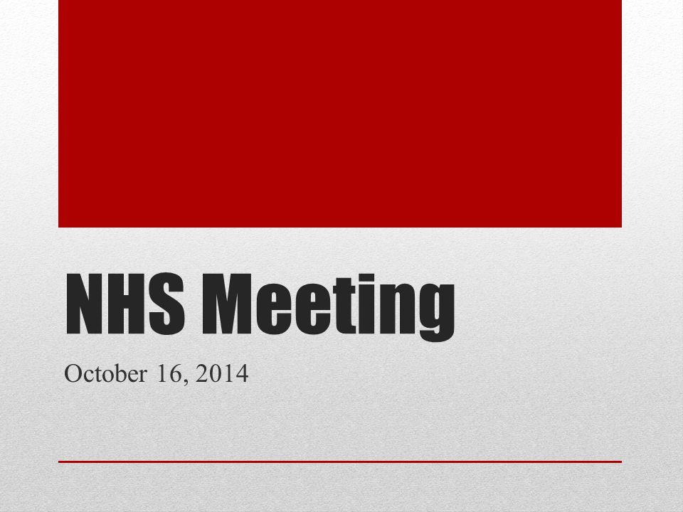 NHS Meeting October 16, 2014