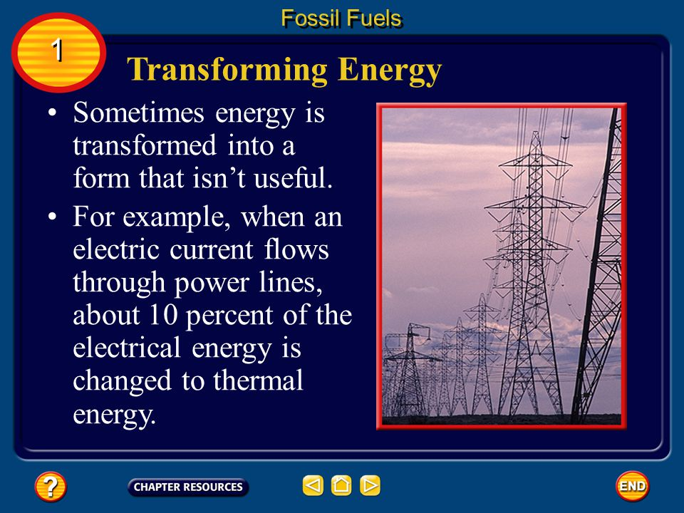 According to the law of conservation of energy, energy cannot be created or destroyed. Energy can only be transformed, or converted, from one form to