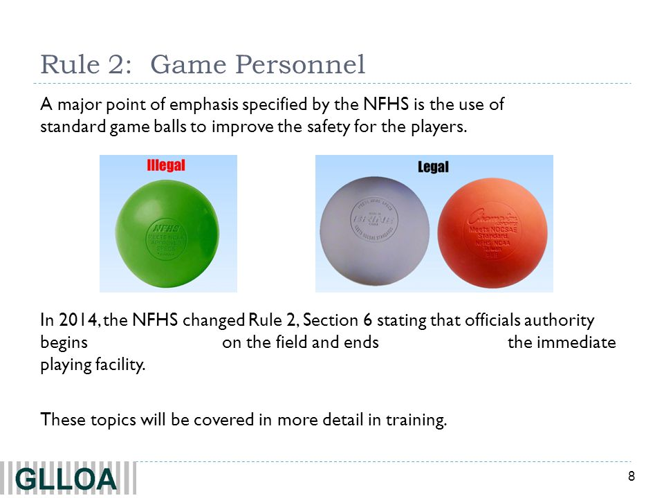 9 Rule 3: Time Factors TThe regulation playing time of a game shall be 4 periods of 12 minutes.