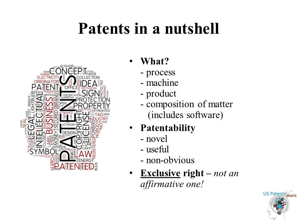Patents in a nutshell What.