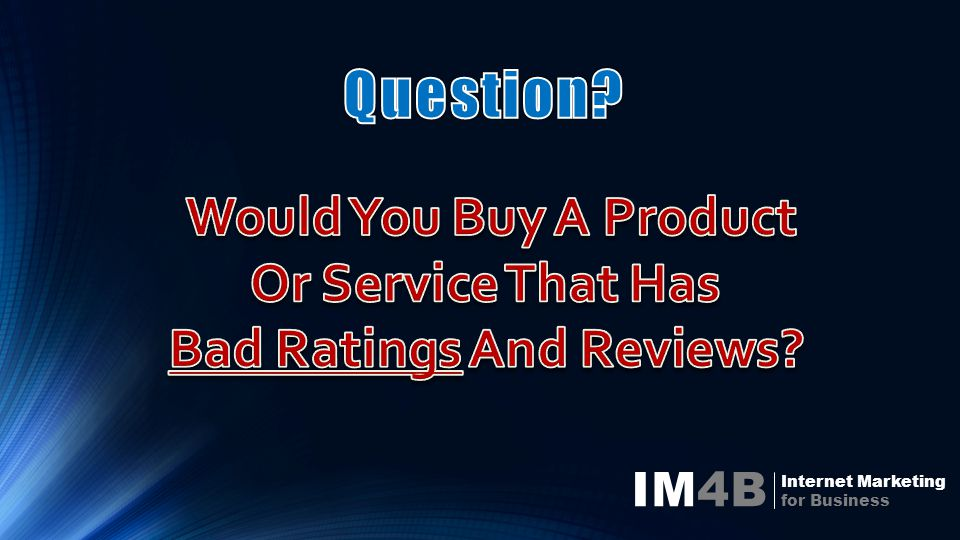 IM4B Internet Marketing for Business One Has 10 Good Reviews One Has 3 Good Reviews And 1 Bad Review And 1 Bad Review