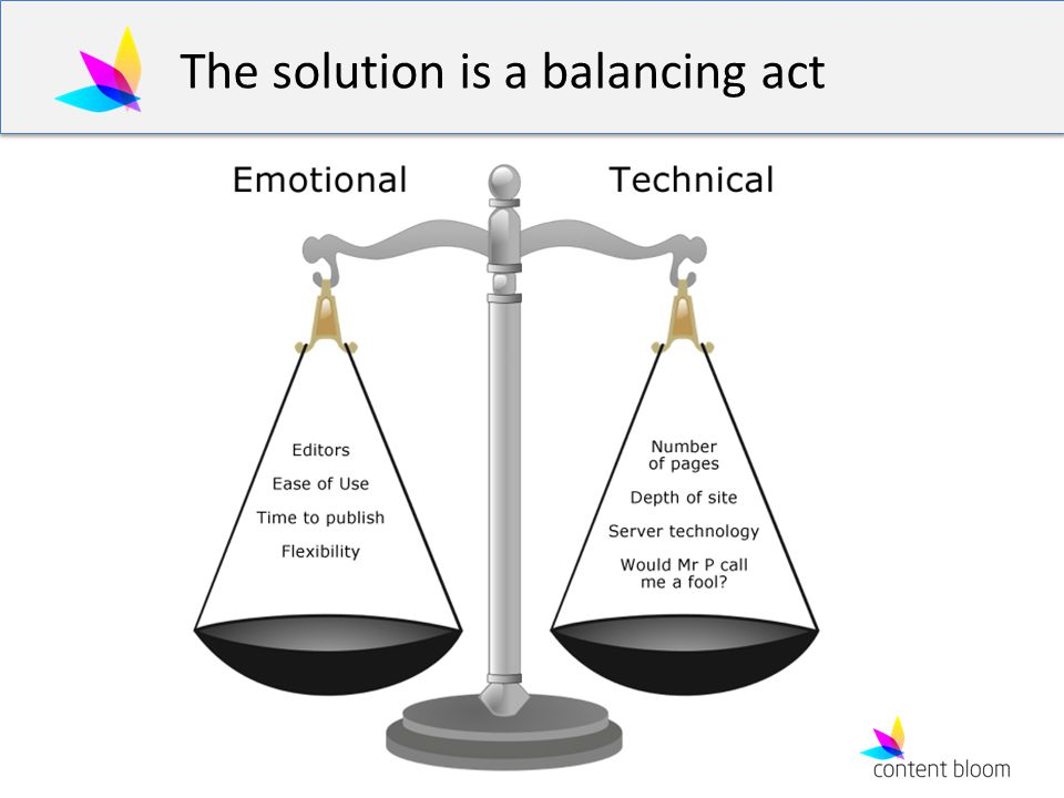 The solution is a balancing act