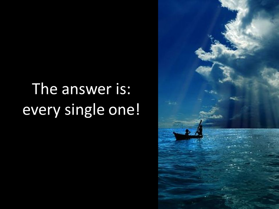 The answer is: every single one!