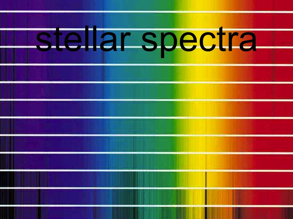 the formation of a spectrum 3 important properties of spectra: 1) there are three kinds 2) are determined by the energy levels 3) H gives us three obvious visible lines that can tell us the T of a star…