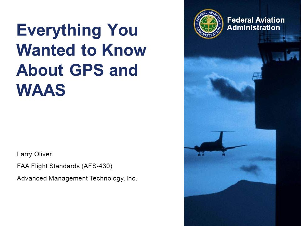 GPS/WAAS 12 Federal Aviation Administration An RNAV Aircraft Can Substitute RNAV for VOR, ADF or DME that is out of service Use as alternative means of navigation guidance (no requirement to monitor VOR, etc.) Extracted from AIM, Section 1-2-3, Use of RNAV Equipment on Conventional Procedures and Routes –Define Conventional