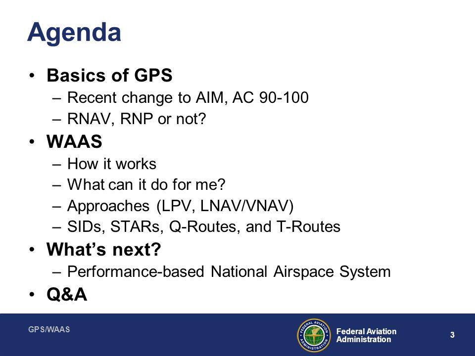 GPS/WAAS 14 Federal Aviation Administration Fly-By and Fly-Over Waypoints