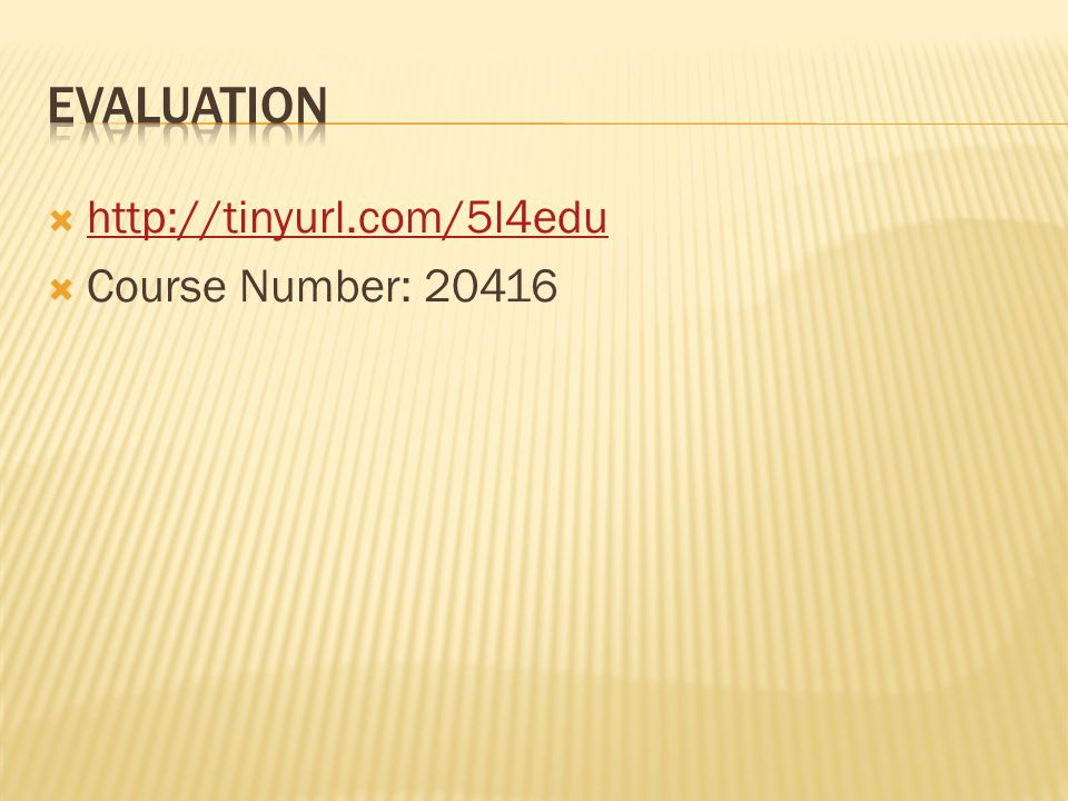  http://tinyurl.com/5l4edu http://tinyurl.com/5l4edu  Course Number: 20416