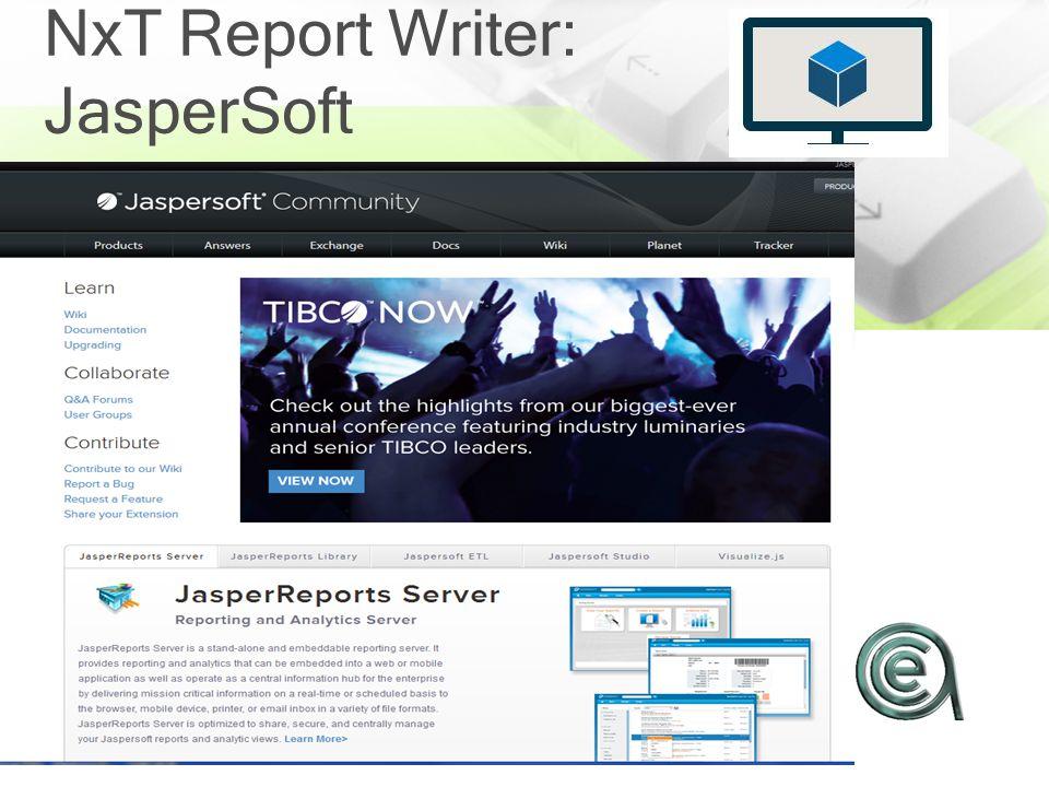 NxT Report Writer: JasperSoft