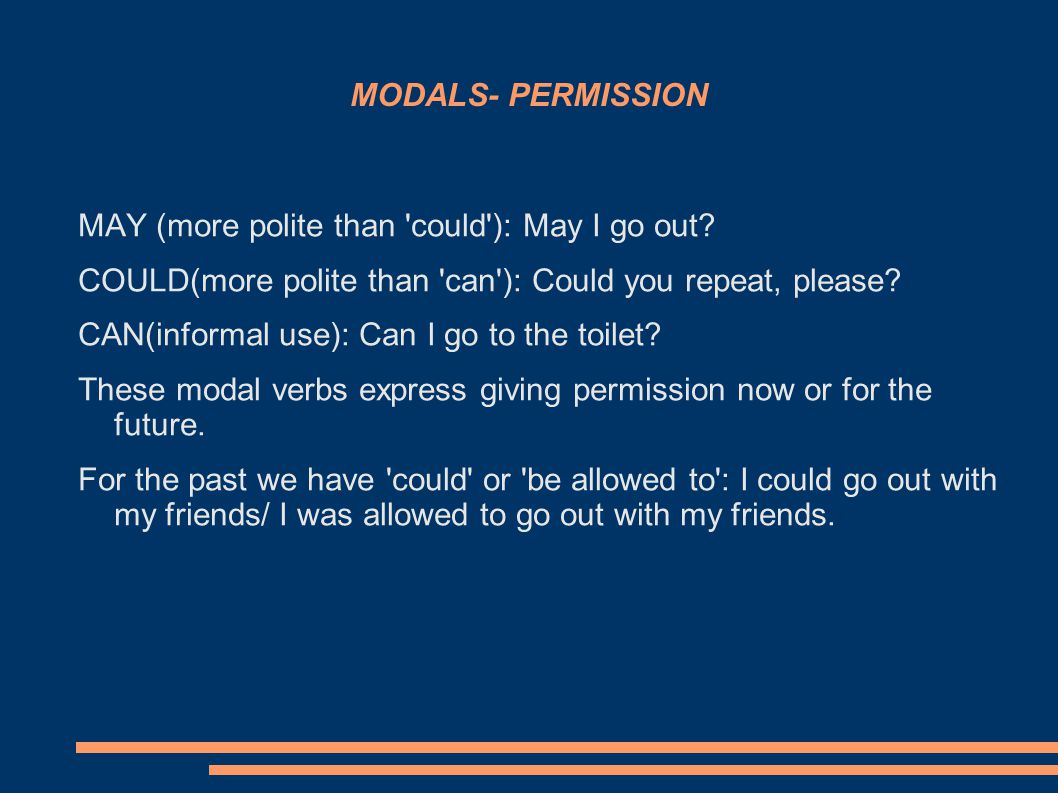MODALS- ADVICE SHOULD+ INFINITIVE / SHOULDN T+ INFINITIVE OUGHT TO These verbs are used for giving advice now, for the future or generally: You should go to the doctor now.