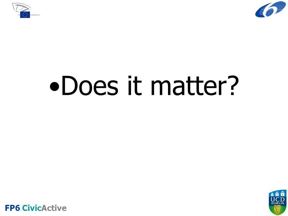 Does it matter FP6 CivicActive