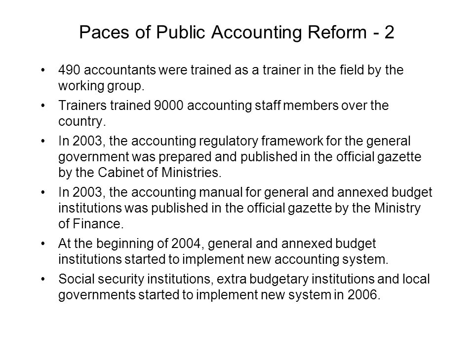 Automation of Accounting Offices (say2000i system) say2000i project for the automation of 1600 accounting offices and units, except the tax offices of the Ministry of Finance, was initiated in 1999 and completed in 2002.