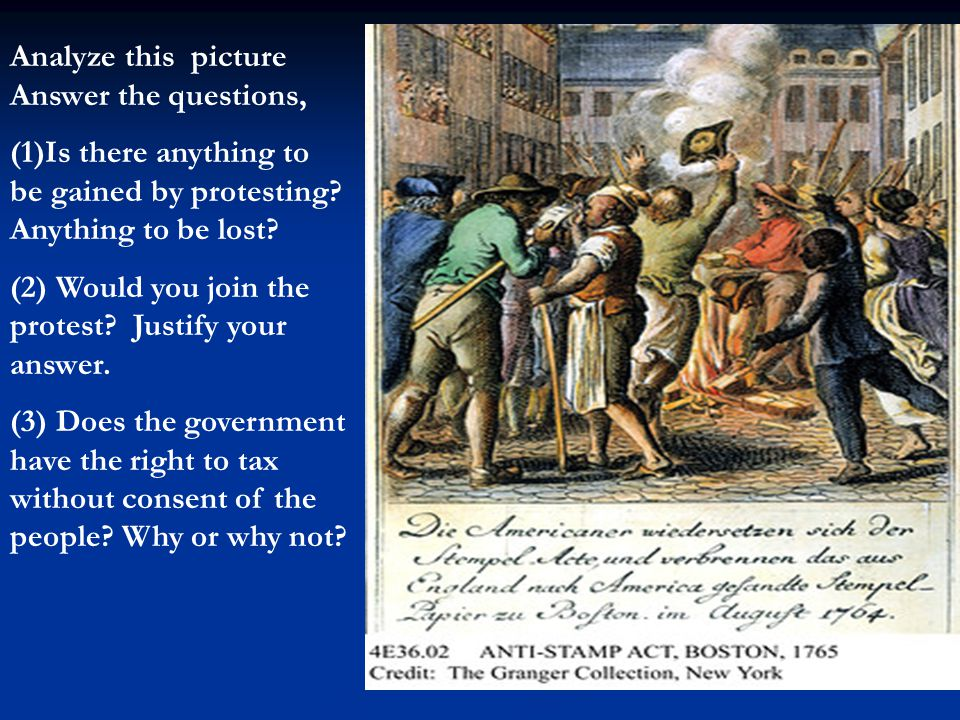 Analyze this picture Answer the questions, (1)Is there anything to be gained by protesting.