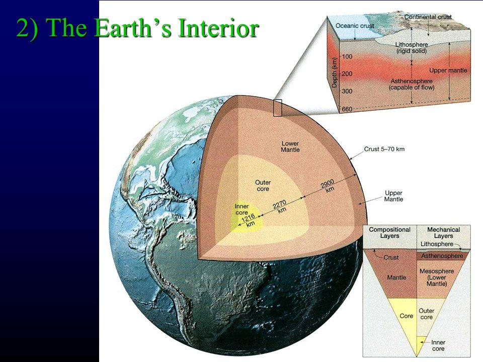 2) The Earth's Interior