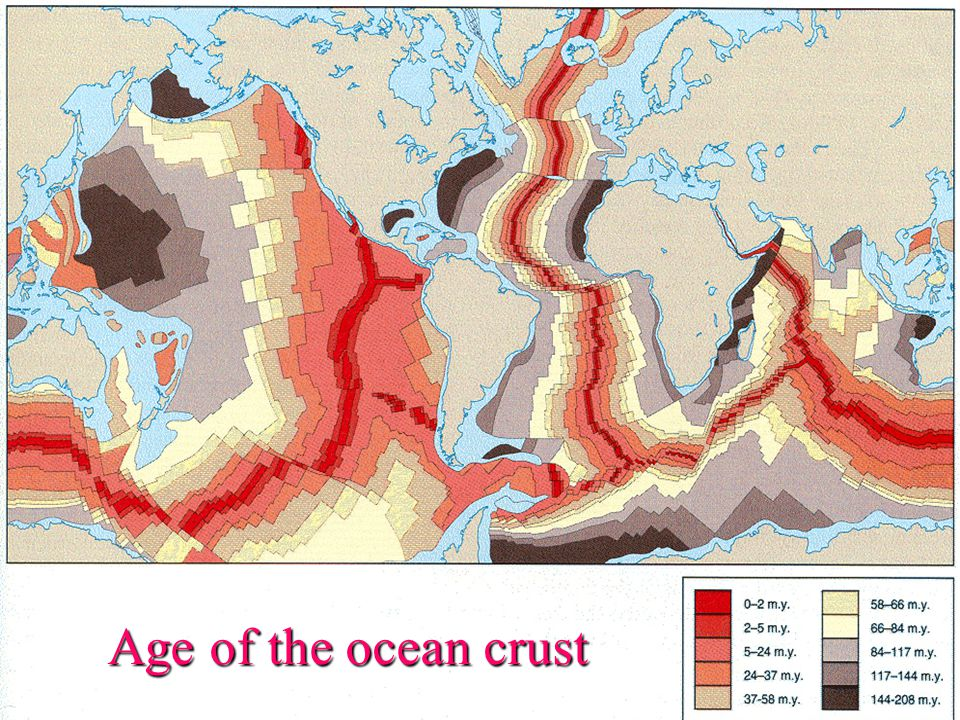 Age of the ocean crust