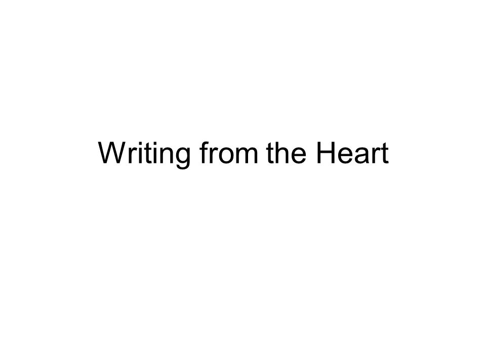 Let me start by reading you something that Meredith wrote in her writer's notebook: