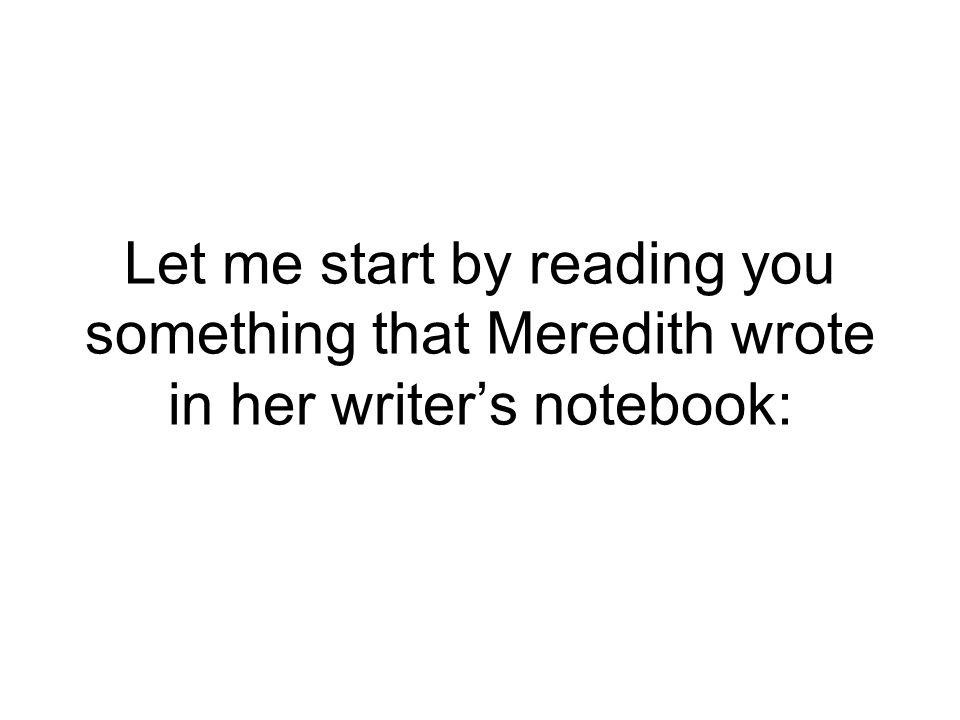 Write about it.