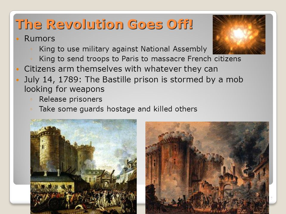 8 The Great Fear Spreads Rumor ◦Nobles hiring outlaws to attack peasants Citizens break into houses of nobles ◦Destroy legal papers (can't owe king or lord what can't be proved) ◦Kill nobles ◦Burn houses A chateau burns as peasants riot in the countryside
