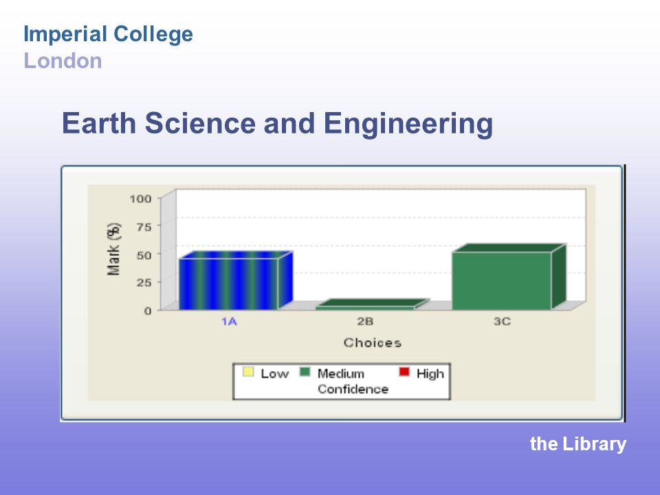 the Library Imperial College London Earth Science and Engineering
