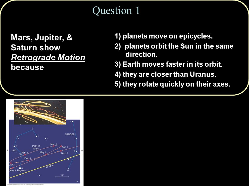 1) planets move on epicycles.2) planets orbit the Sun in the same direction.
