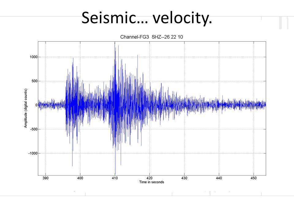 Seismic… velocity.