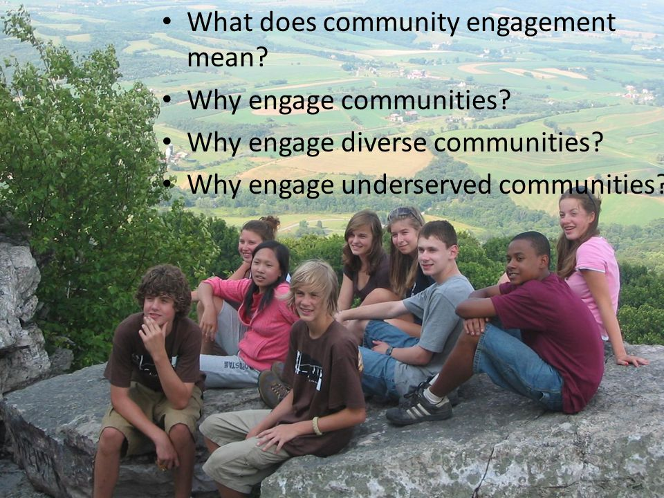 What does community engagement mean. Why engage communities.