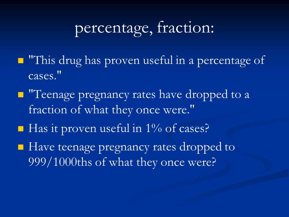 percentage, fraction: