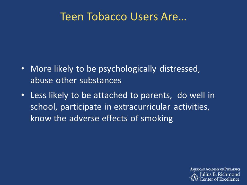 Create a Tobacco-free Office and Waiting Room Replace tobacco ads in magazines with health promotion, tobacco free magazines Make cessation materials readily available in waiting room and exam room Provide risk awareness educational material and self help literature Posters and signage