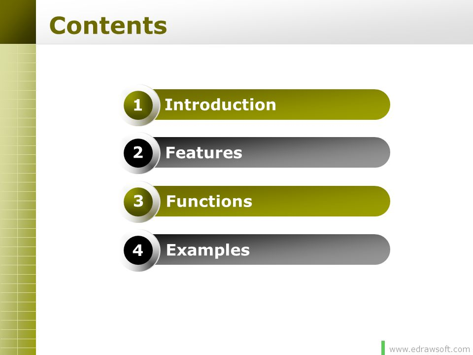 www.edrawsoft.com Introduction  Professional Edraw Max is the best diagram solution to help you design, create, improve and achieve your goals.