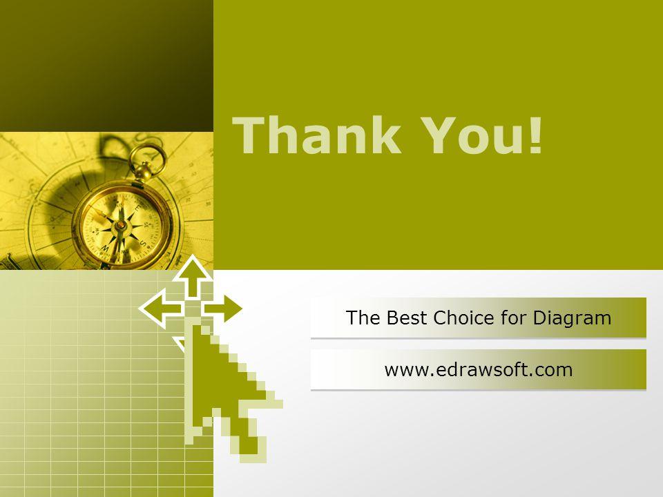 The Best Choice for Diagram www.edrawsoft.com Thank You!