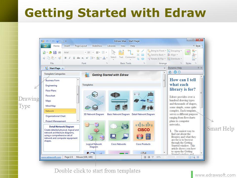 www.edrawsoft.com From Templates 1 2
