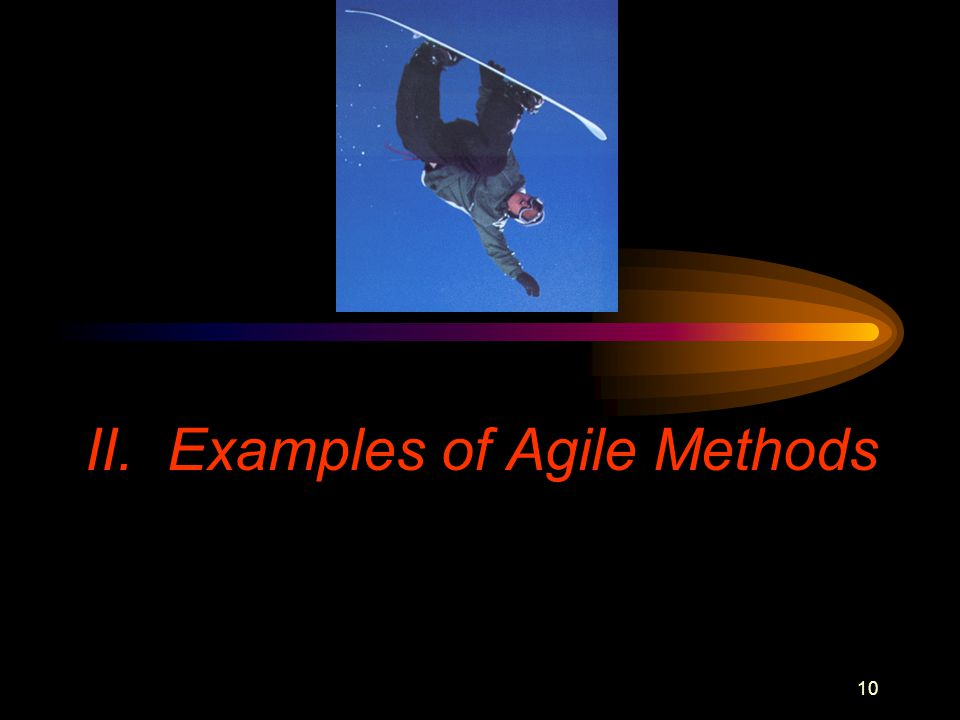 10 II. Examples of Agile Methods