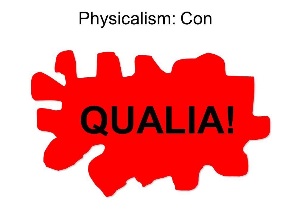 Physicalism: Con QUALIA!