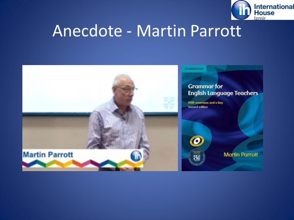 Anecdote - Martin Parrott