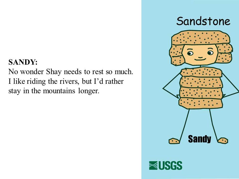 SANDY: No wonder Shay needs to rest so much.