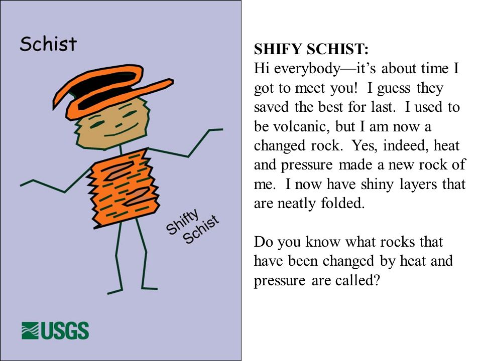 SHIFY SCHIST: Hi everybody—it's about time I got to meet you.