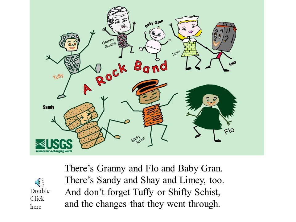 There's Granny and Flo and Baby Gran. There's Sandy and Shay and Limey, too.