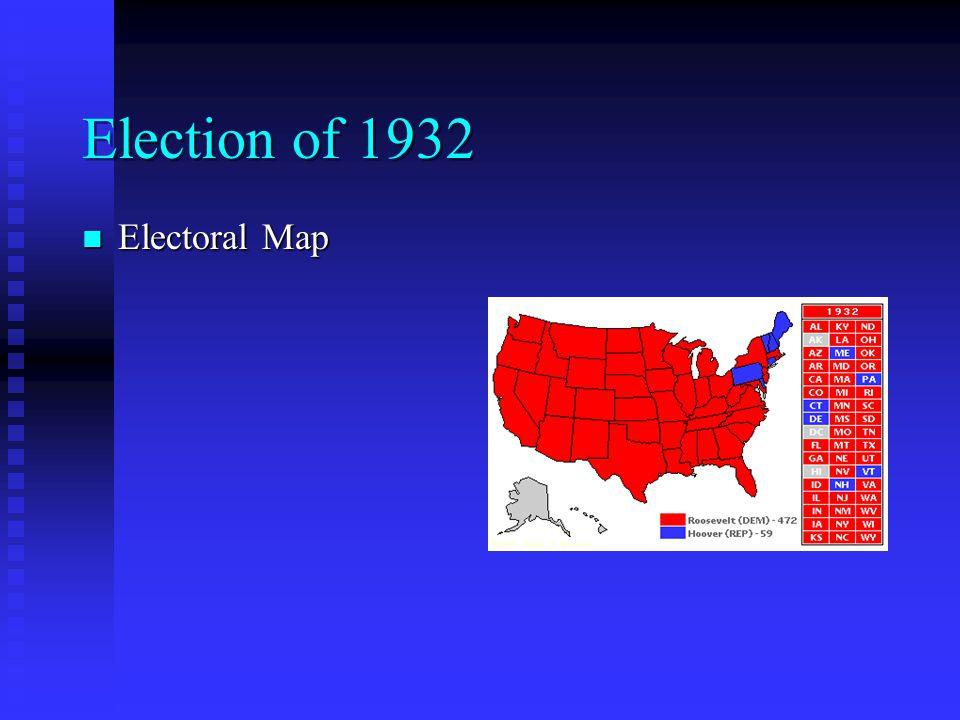 Election of 1932 Electoral Map Electoral Map