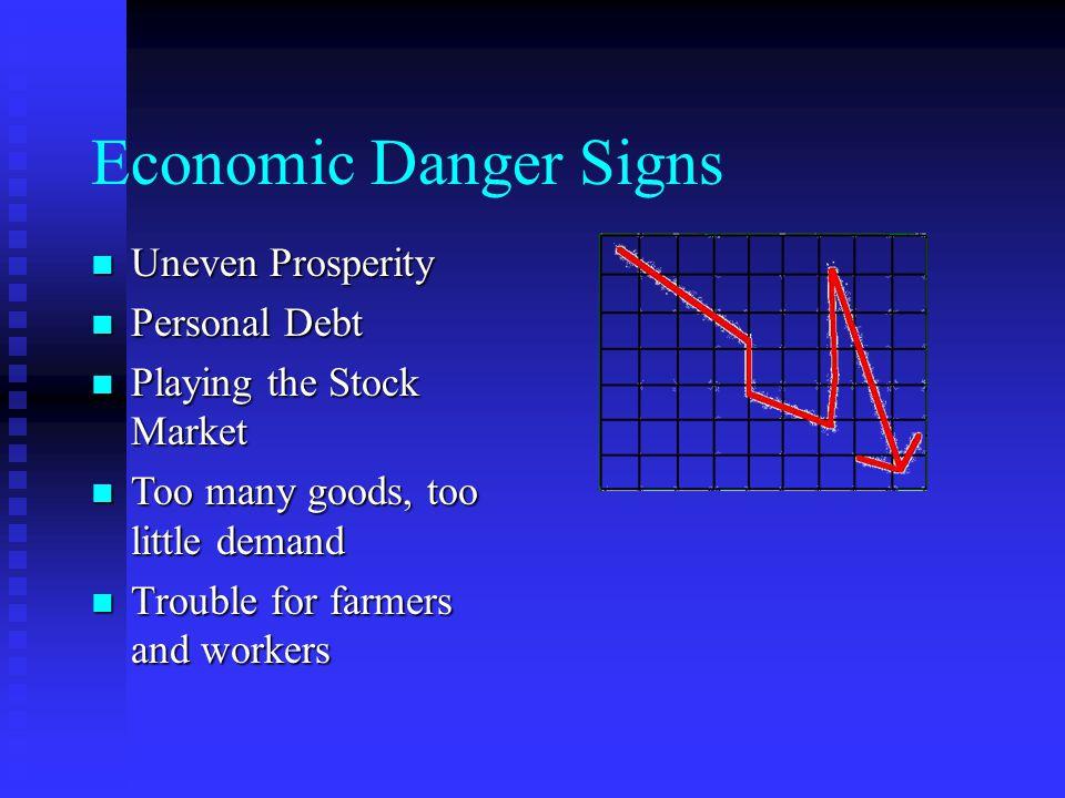 Economic Danger Signs: Uneven Prosperity Stock Market success meant mostly the rich got richer.