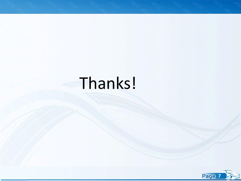 7 Thanks!