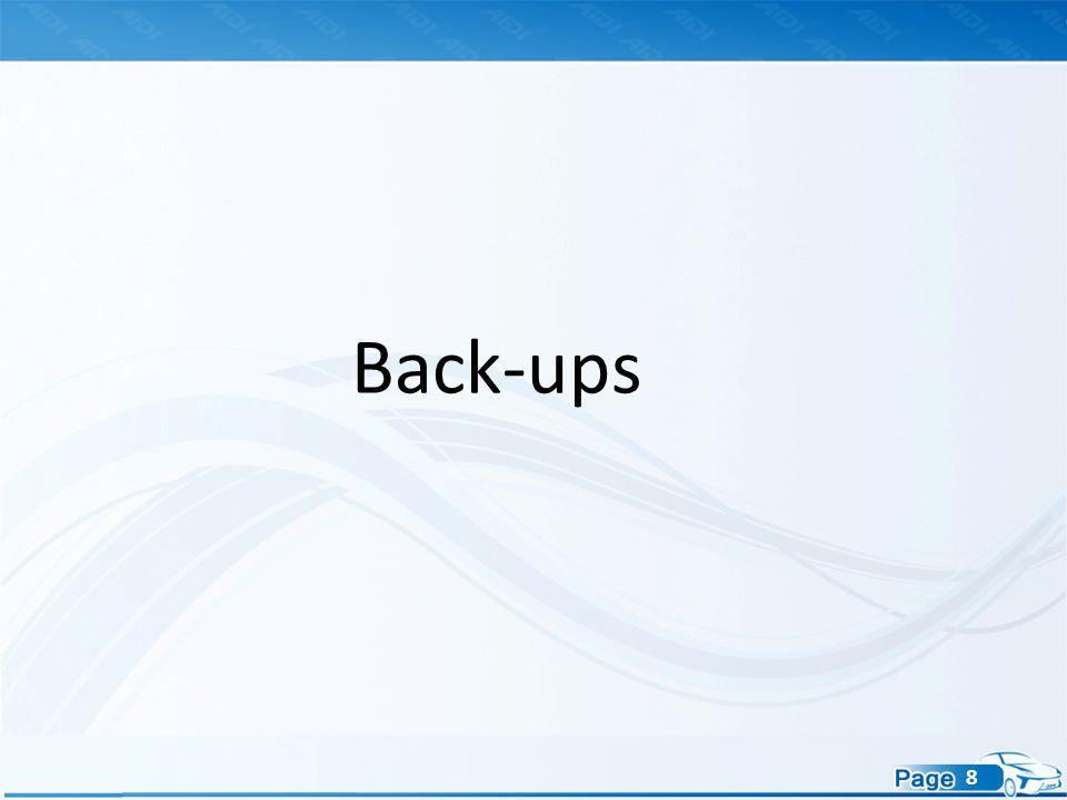 8 Back-ups