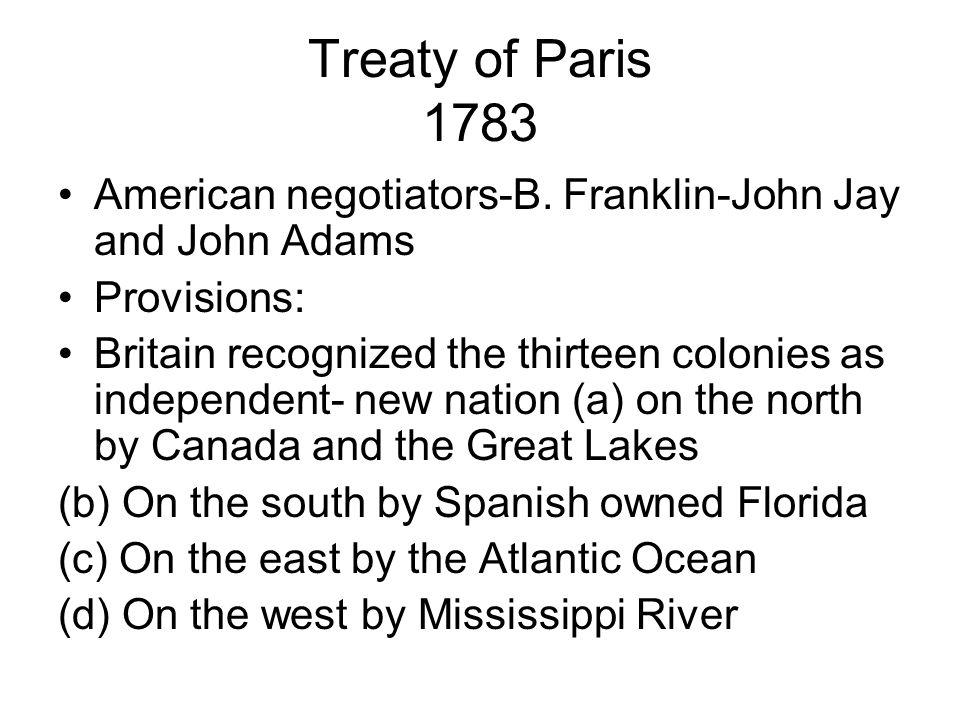 Treaty of Paris 1783 American negotiators-B.