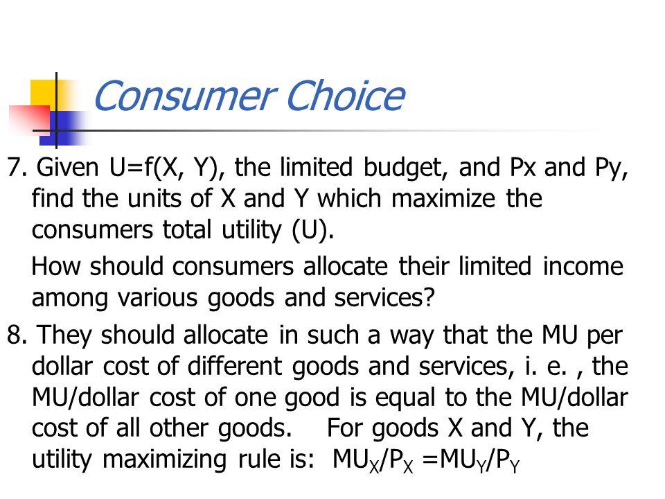 Consumer Choice 7.